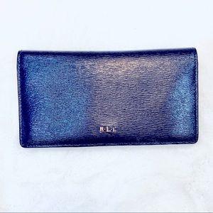 Lauren Ralph Lauren navy leather wallet